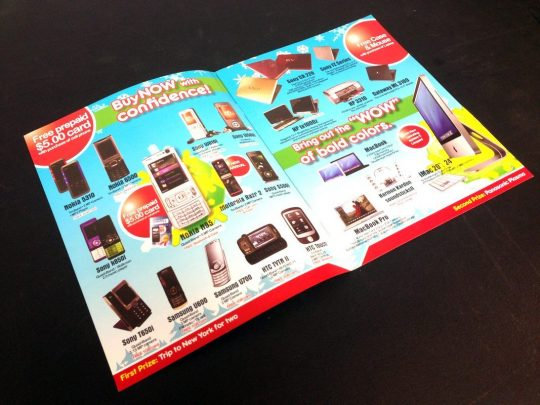 Electronics booklets printing