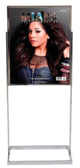 Single rectangular base metal double sided display