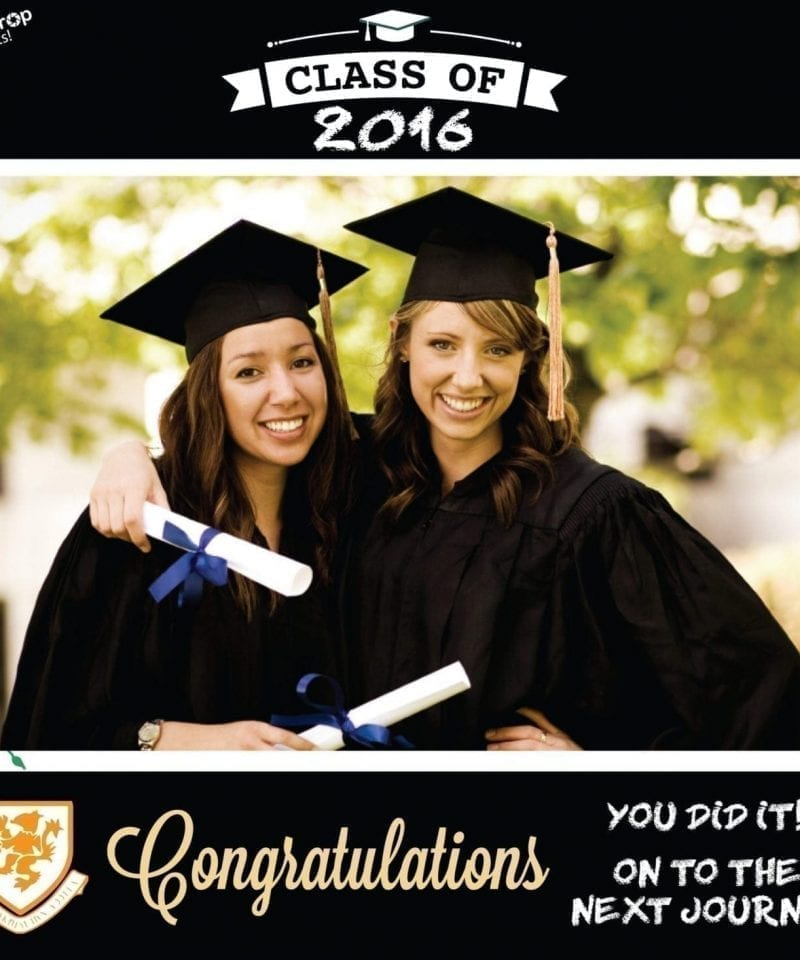 graduation photo prop
