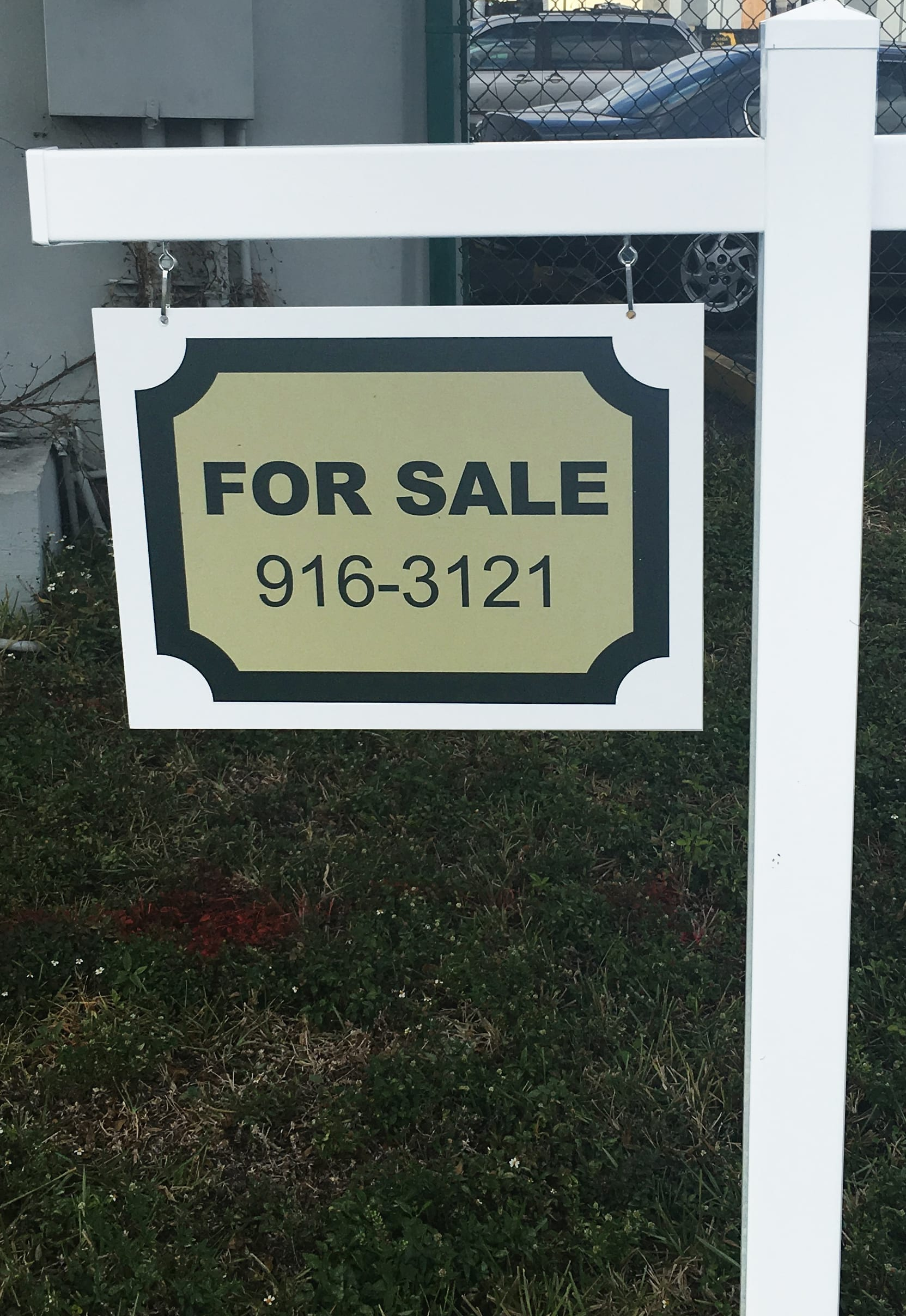 sign for real estate sign post